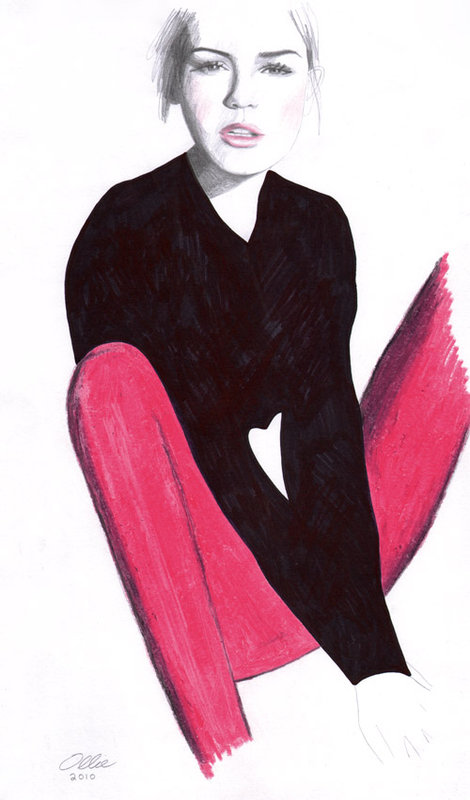 Fashion Illustrations by Oliver Searle