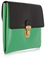 Marni - Tow Toned Leather Clutch
