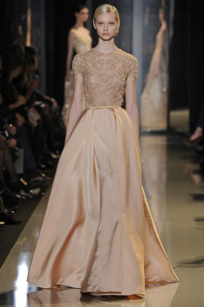 Tabliers Haute Couture : Elie saab haute couture spring a side of vogue