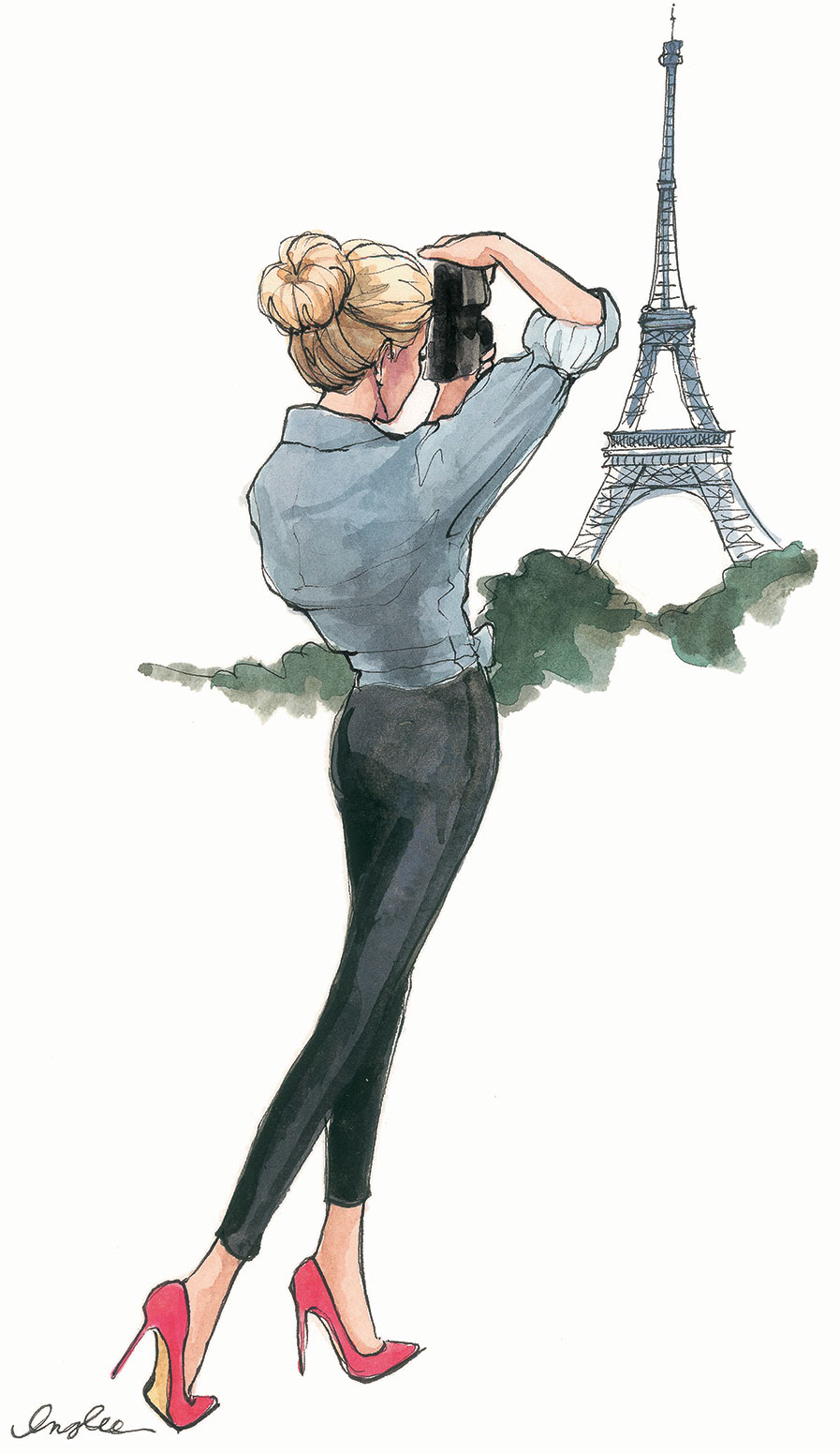 Paris Anyone? Fashion Illustrations by Inslee