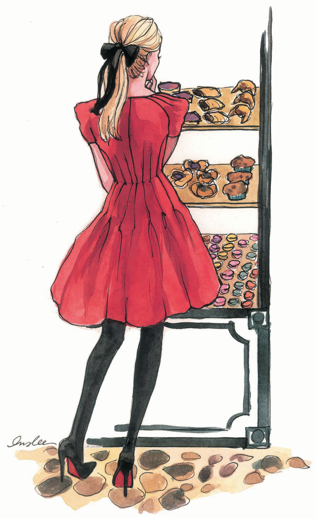 Paris Anyone Fashion Illustrations By Inslee A Side