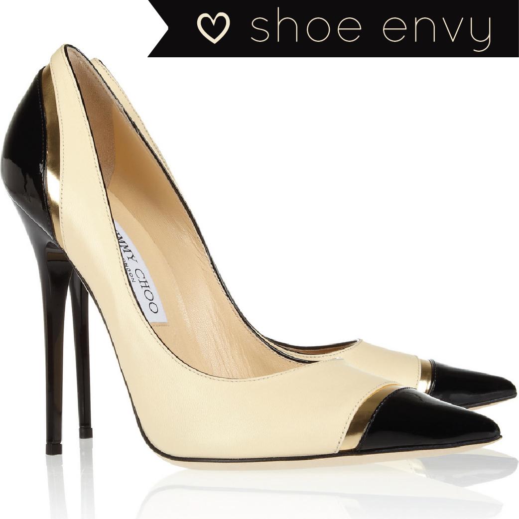 Usa Jimmy Choo Pumps - 2013 05 08 Shoe Envy Jimmy Choo Limit Tri Tone Leather Pumps