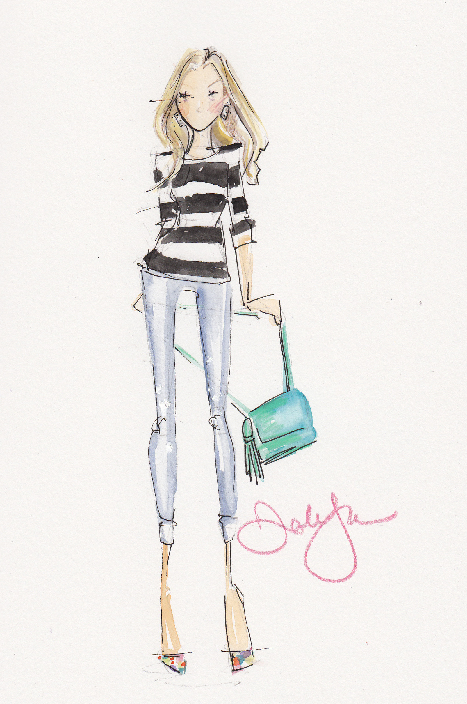 Fashion Illustrations by Dallas Shaw | A Side Of Style