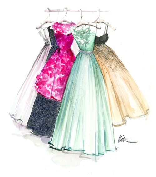 Playing Dress Up! Fashion Illustrations by Katie Rodgers of Paper Fashion