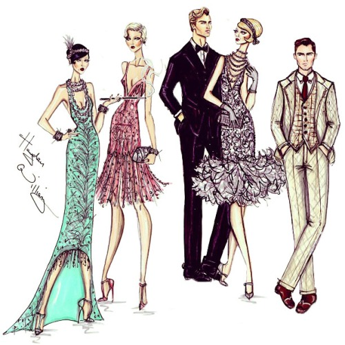 Fashion Illustrations – The Great Gatsby Collection by Hayden Williams