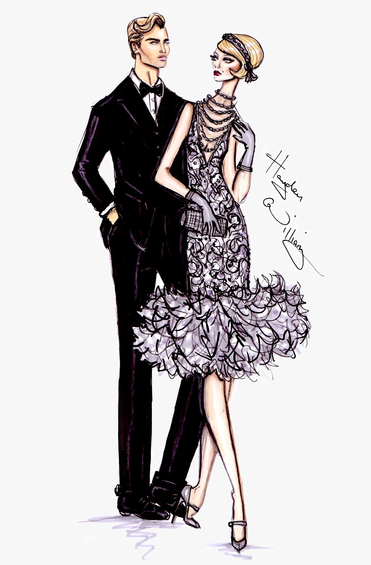 Fashion Illustrations The Great Gatsby Collection By Hayden Williams A Side Of Vogue