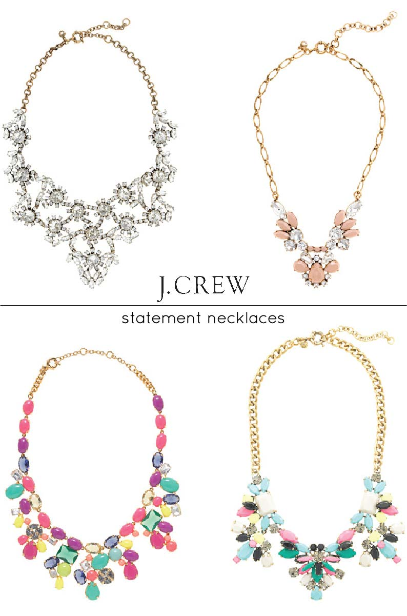 currently coveting j crew statement necklaces a side of