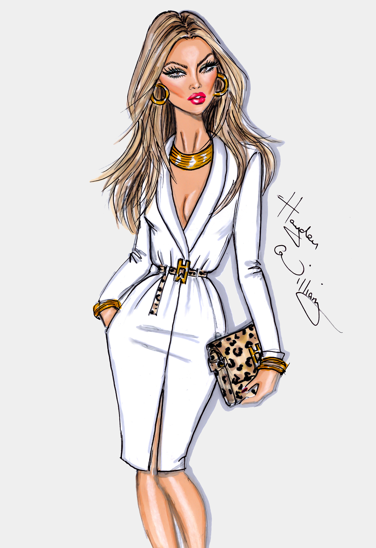 Fashion Illustrations by Hayden Williams | A Side Of Style