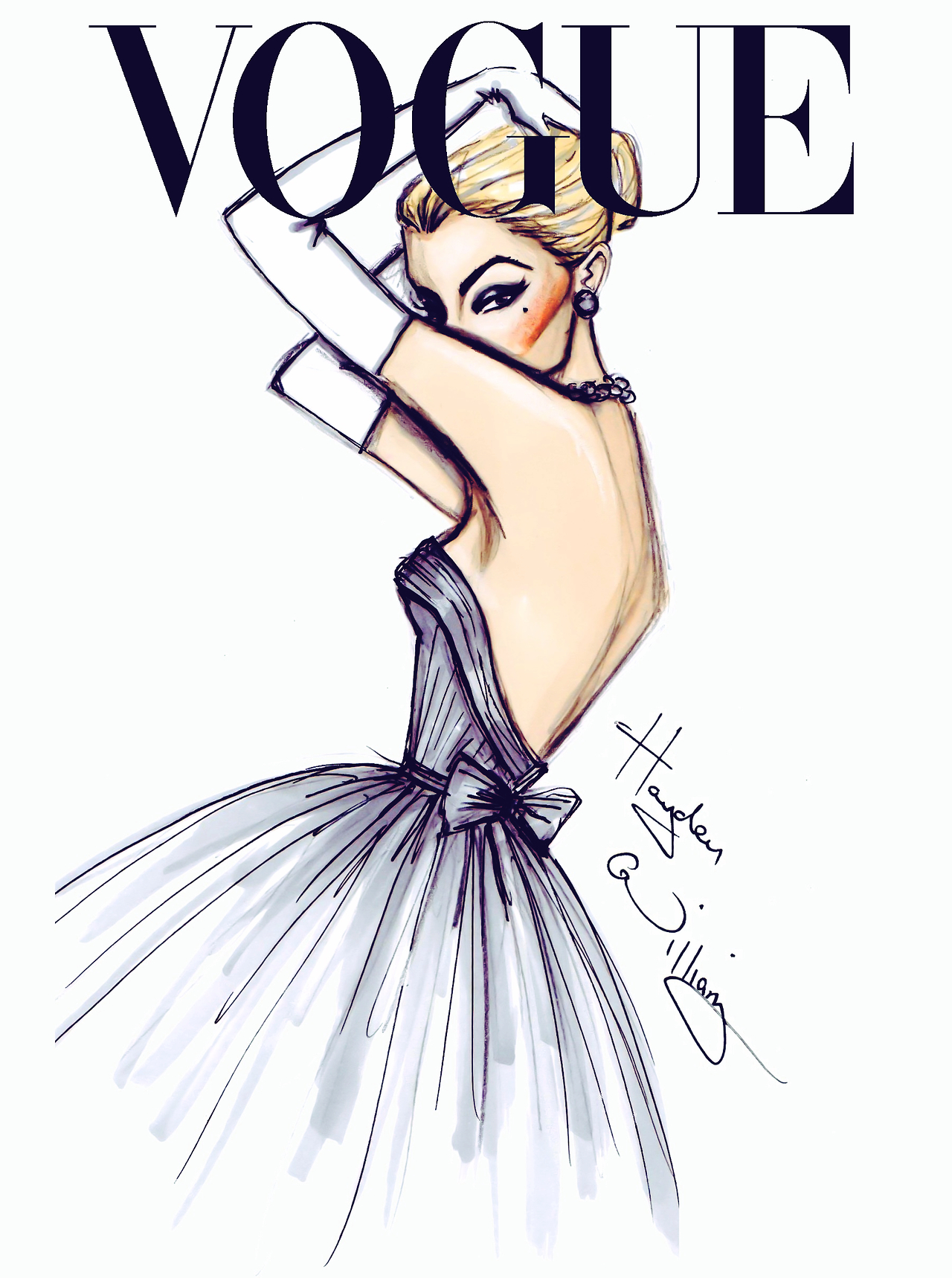 Fashion Book Cover Art ~ Vogue fashion illustrations by hayden williams a side
