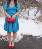 Style Post: Turquoise Teal With Red Accents
