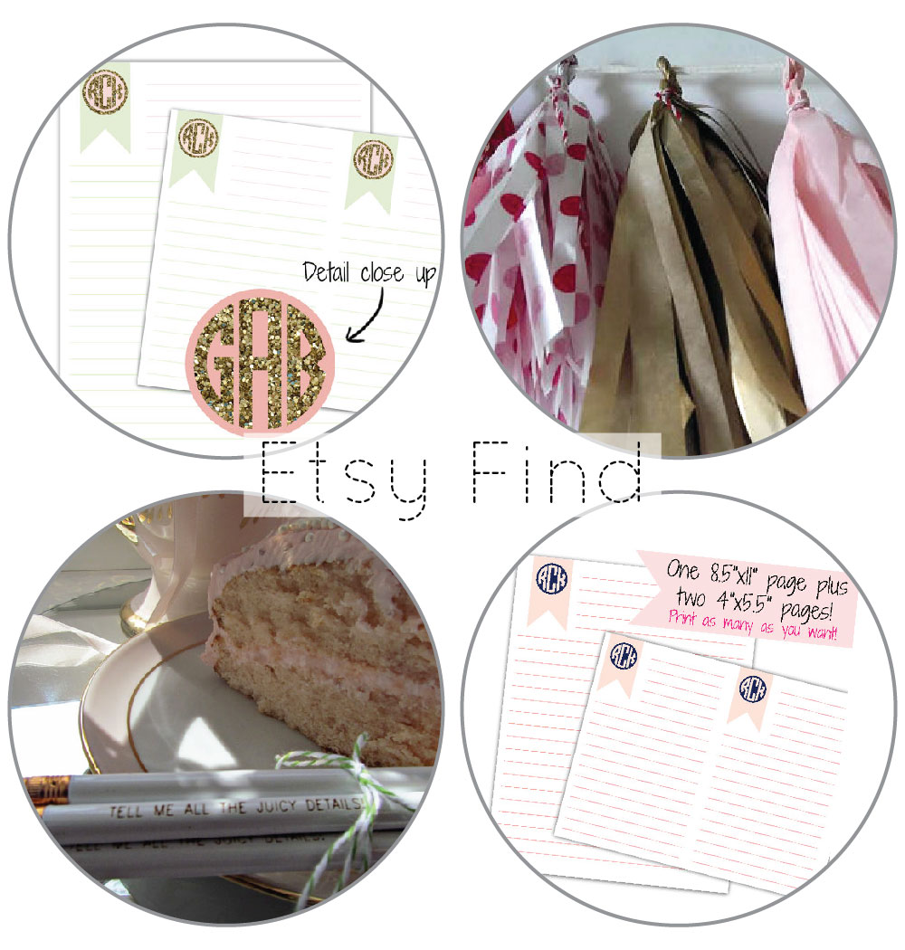 Etsy Find: Pretty Stationery from Glitter and Bow