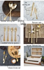 Loving Lately: Gold Lacquer Flatware