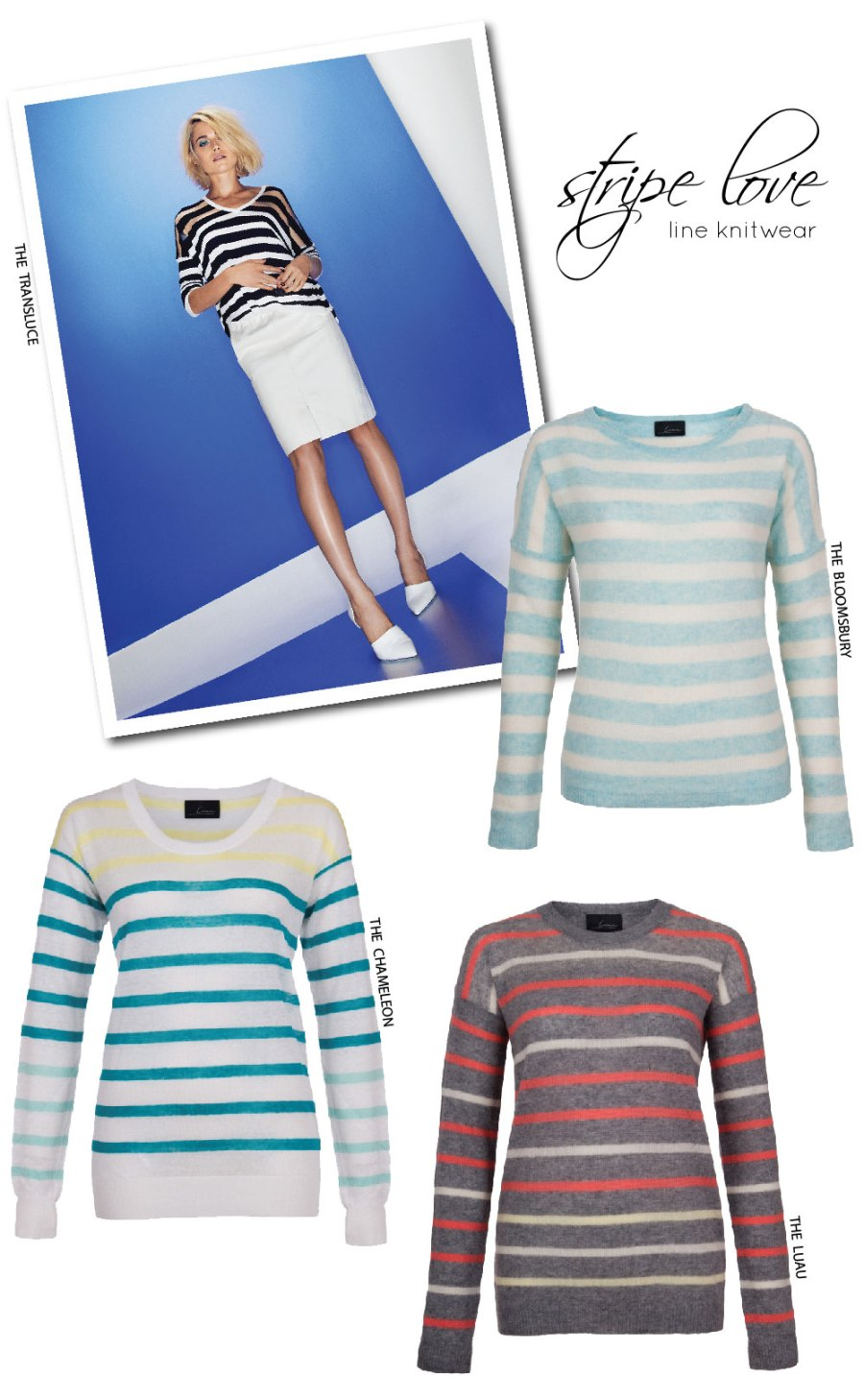 Line Knitwear Spring Campaign + Loving Stripes