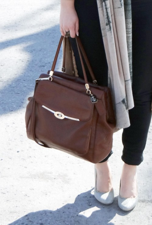 Brown-Coach-Handbag-Le-Chateau-Heels