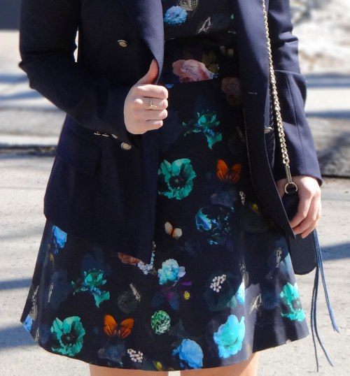 floral-dress-blue-blazer-bullet-ring