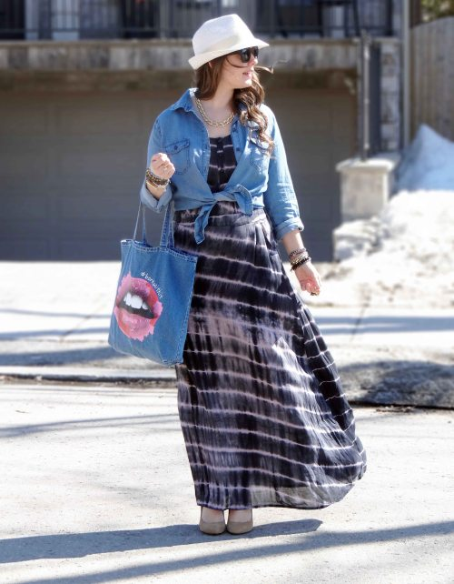 Tie-Dye-Dress-Denim-Fedora-Hat-Blogger-Style