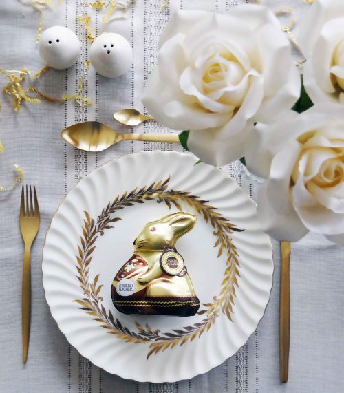 White-Gold-Easter-Dinner-Party-Ferrero-Rocher-Bunny