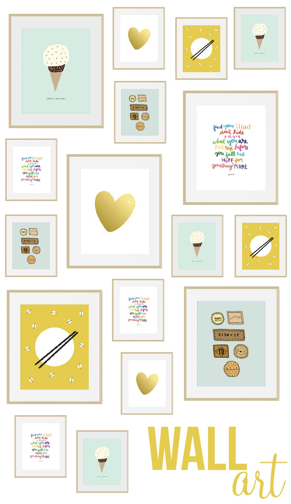 Gallery Wall Prints etsy find: create a gallery wall with prints from etsy shop 'nice