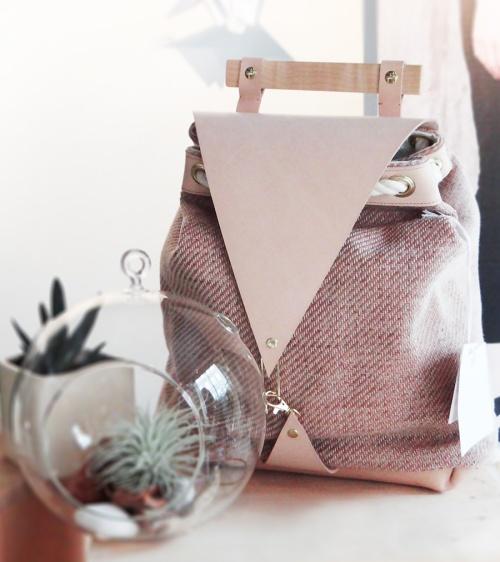 Etsy-Spring-Backpack-Blush-Pink-Vegetan-Leather-Wool-Wood-1